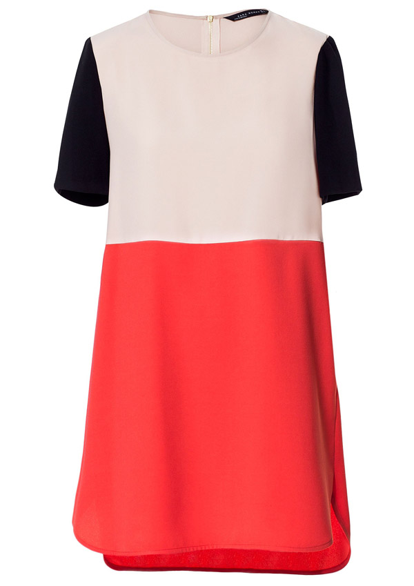 Colour block dresses pictures