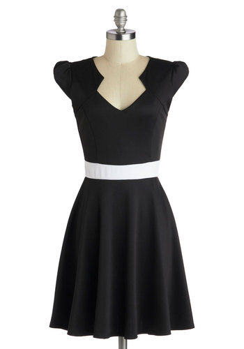 Vivacious and Vibrant Dress in Noir
