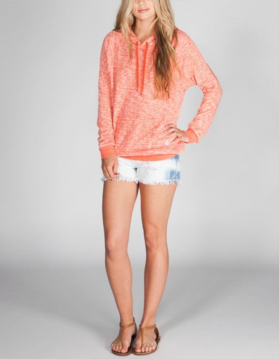 Volcom Moclov Women's Hoodie in Coral - 7 Hoodies to Keep You Warm…