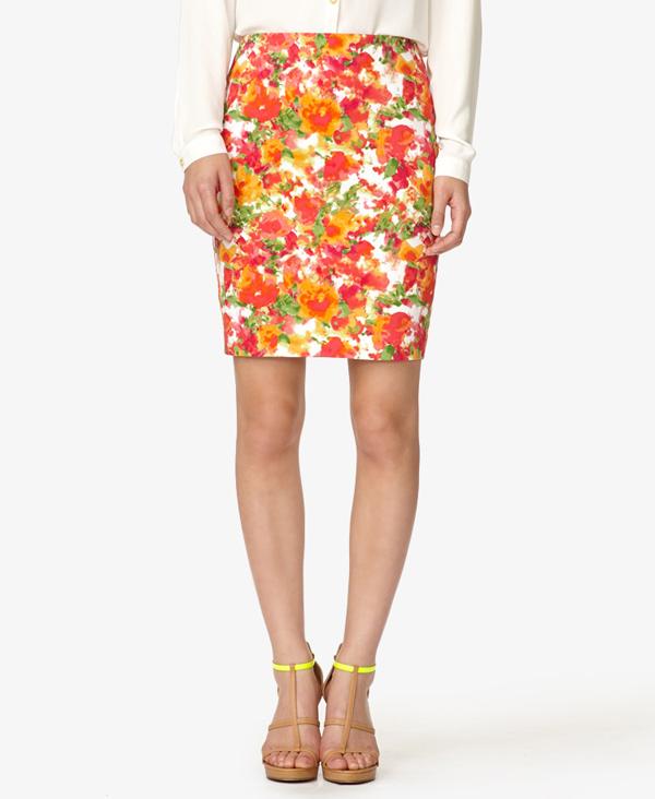 Floral Skirts - Floral Print Skirt