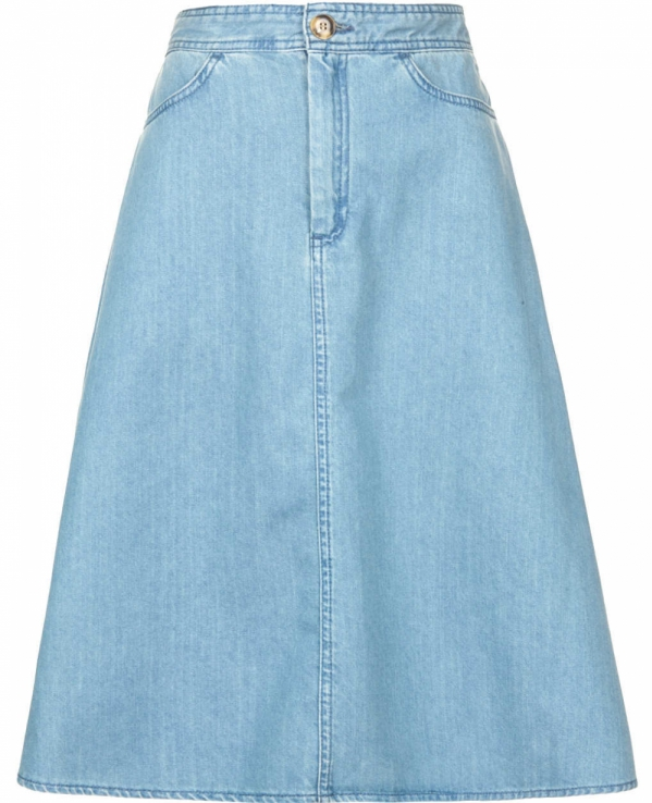 Denim Midi Skirt - 7 Awesome Denim Skirts That Will Become Staples…