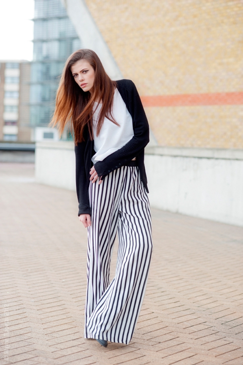 Striped VERTICAL Pants, NOT Horizontal