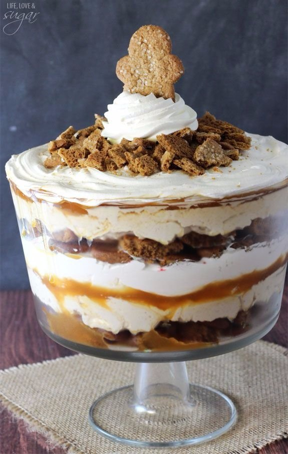 Gingerbread Cheesecake Trifle - Gingerbread Recipes That Just…