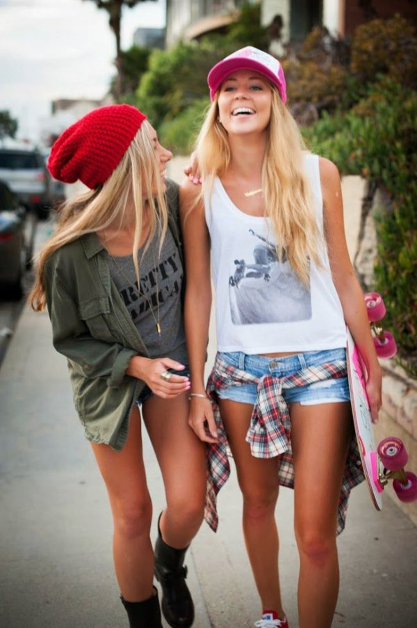 skater girls   california summer style you ll die for