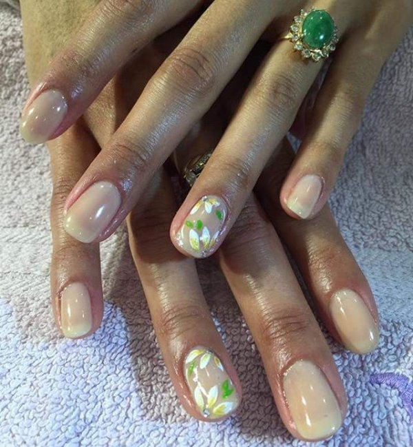 nail, finger, nail care, green, manicure,