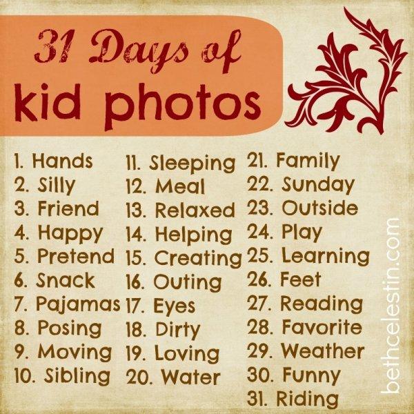 31 Days of Kid Photos