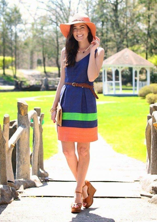 Color block dresses summer