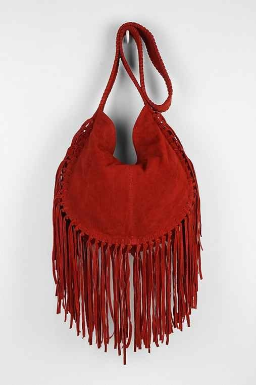 Ecote Bettina Suede Fringe Hobo Bag