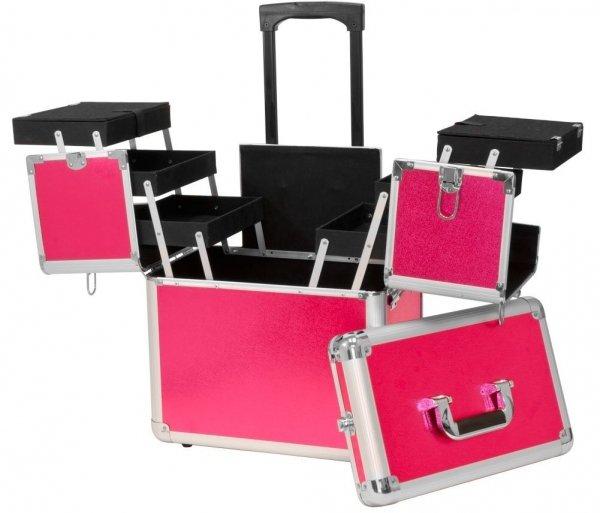 Rolling Wheel Cosmetic Case Organizer