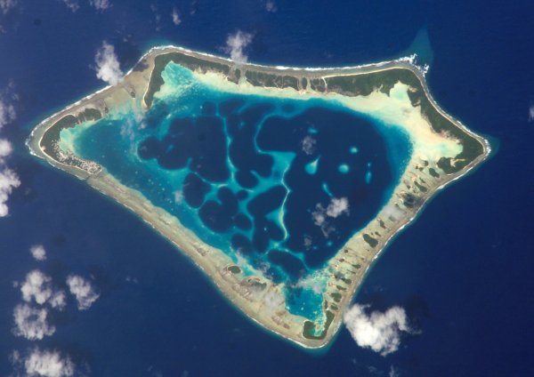 The Atoll from Outer Space, the Maldives, Indian Ocean