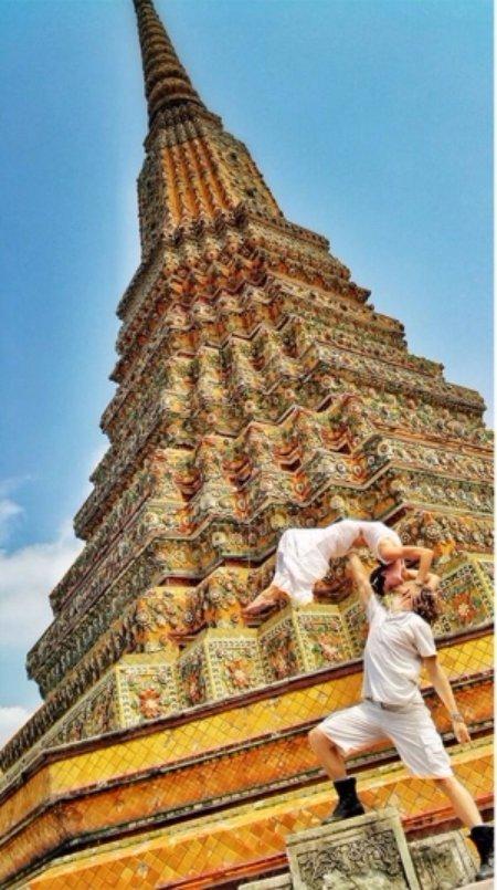 At a Temple in Bangkok, Thailand