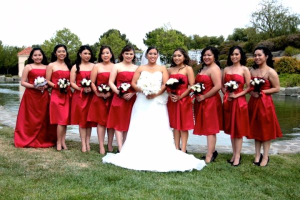 Red Bridal Party