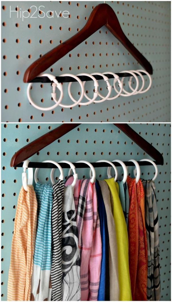 Shower Curtain Ring Organization