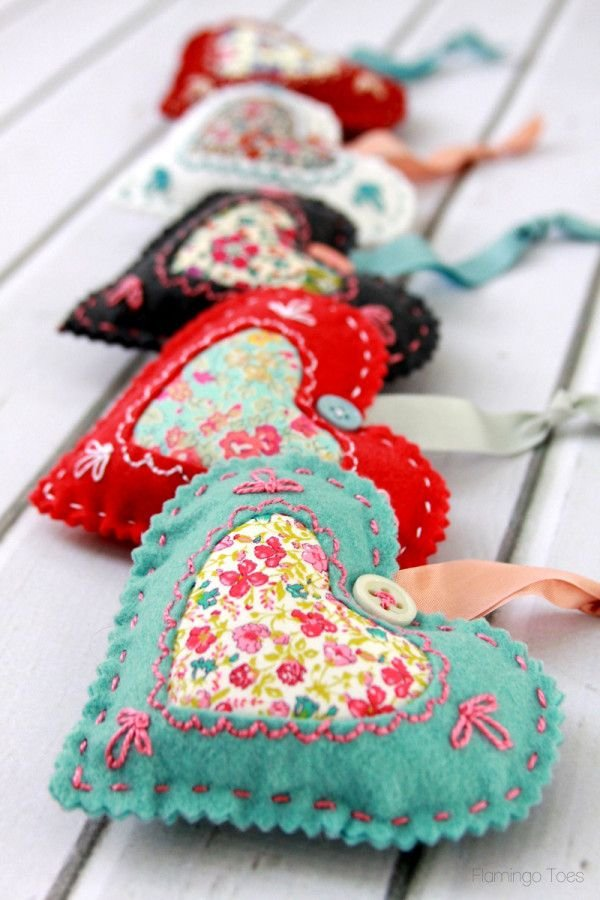 Fabric Heart Valentines