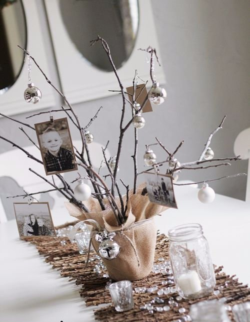 Make a DIY Photo Tree Centerpiece for Christmas (or Any Other Holiday)