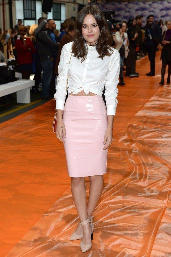 Pink Patent Leather Skirt Fashion Skirts