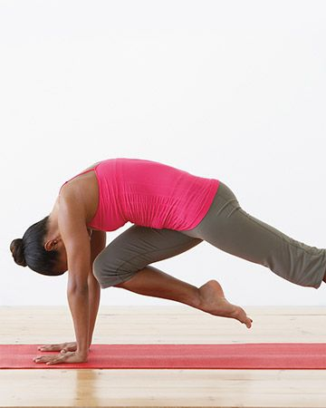 Downward Facing Dog with Knee to Nose