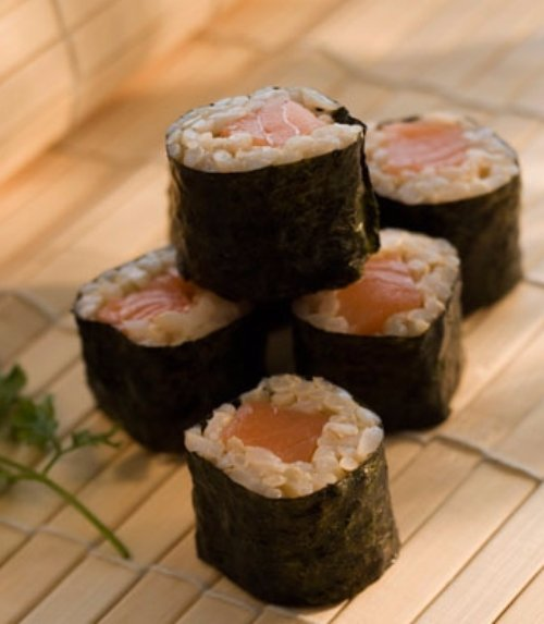 Salmon Sushi with Brown Rice