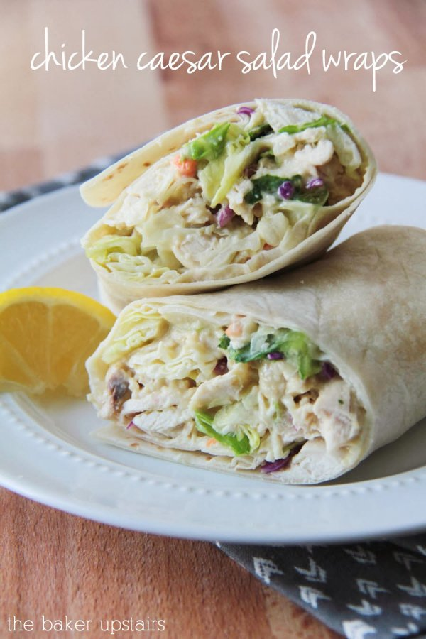 Chicken Caesar Salad Wraps - It's a Wrap: 28 Wrapped Sandwiches to…