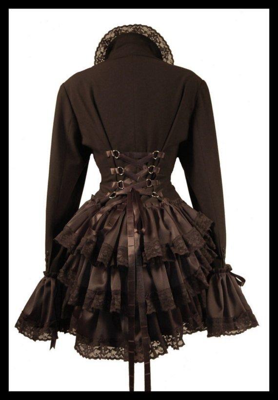 Gothic Victorian Bustle Jacket