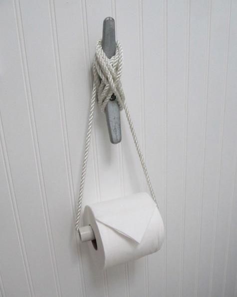 Toilet Paper Holder 32 Seaworthy Beach Themed Bathrooms