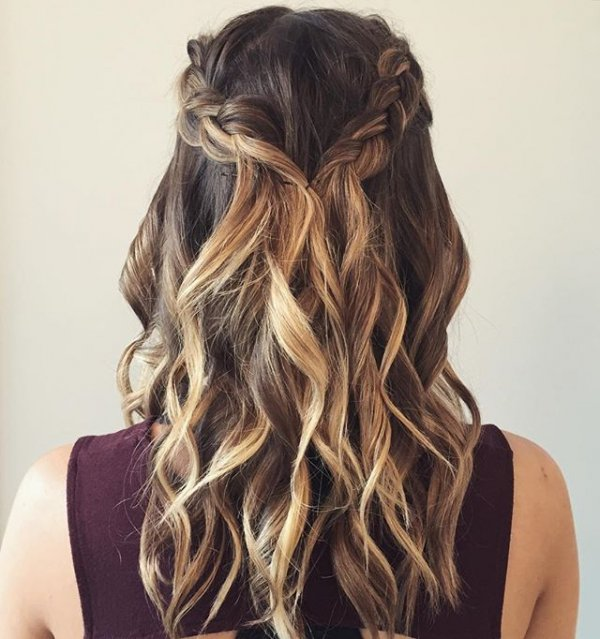8. Beachy Curls and Braids - The Hottest Hairstyles for ...