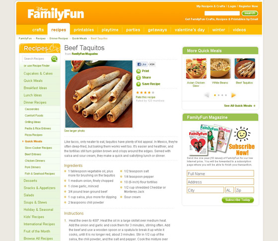 Beef Taquitos at http://familyfun.go.com/recipes/dinner-entrees/quick-meals/beef-taquitos-687272/