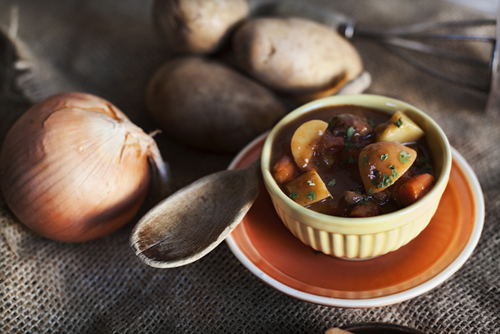 Cider Glazed Roasted Root Vegetable Stew