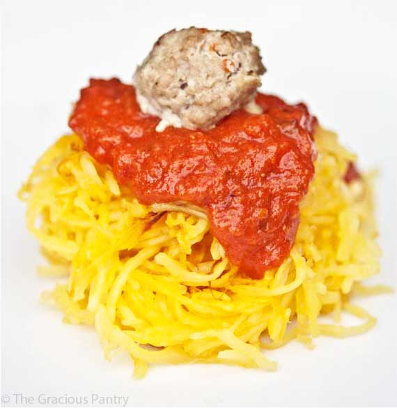 Spaghetti Squash Spaghetti & Meatballs