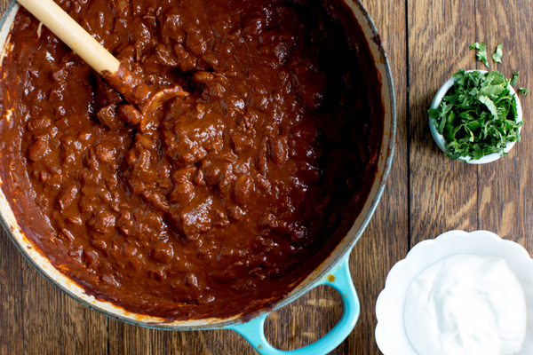Triple Chocolate Beef and Bean Chili - 9 Savory Recipes with Chocolate ...