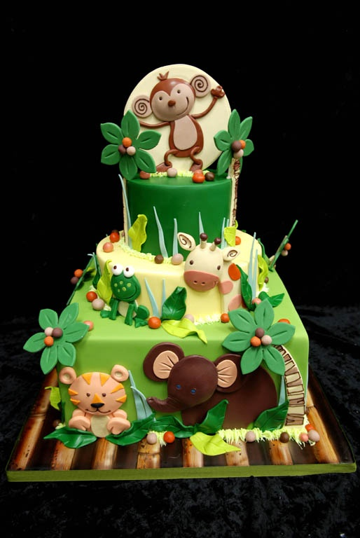 cakes selva team & animals cakes on Pinterest Jungle ...