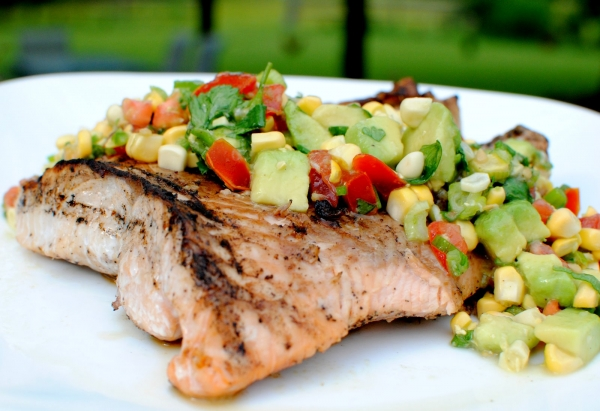 ... Grilled Wild Salmon with Cucumber-Avocado Salsa - 7 Delicious and