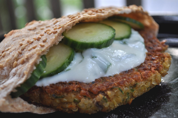 Greek Style Quinoa Burgers - 7 Fun Ways to Eat Quinoa for a Healthy ...