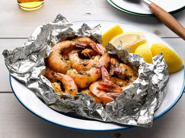 Packet Garlic Shrimp