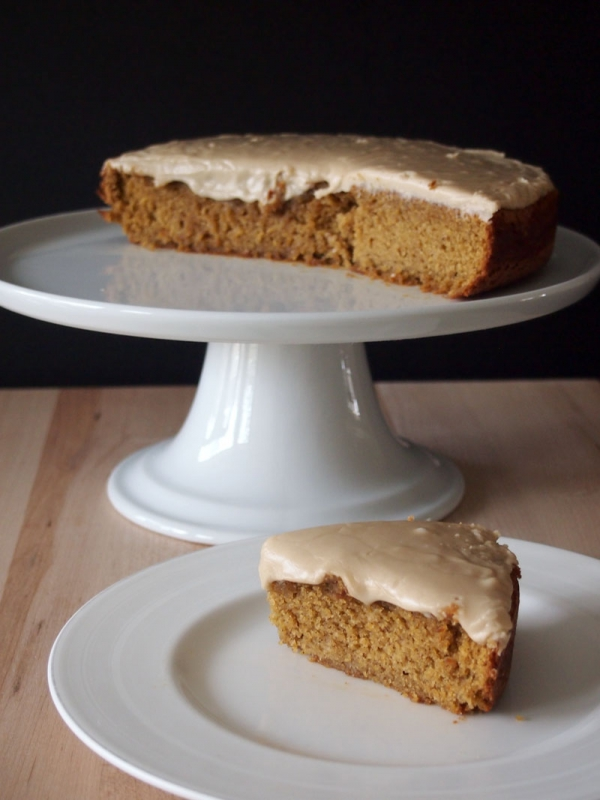 Pumpkin Cake with Almond Butter Frosting - 7 Almond Butter Recipes ...