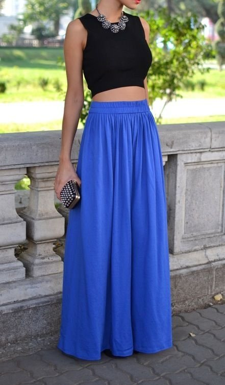 Maxi Skirt - 7 Adorable High-waisted Outfits to Recreate This Fall…