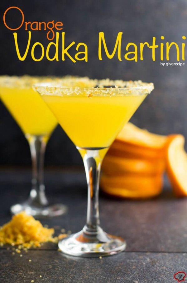 Orange-flavored Martini