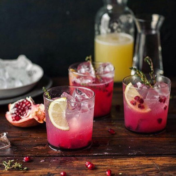 Enjoy Pomegranate Juice in the Evening