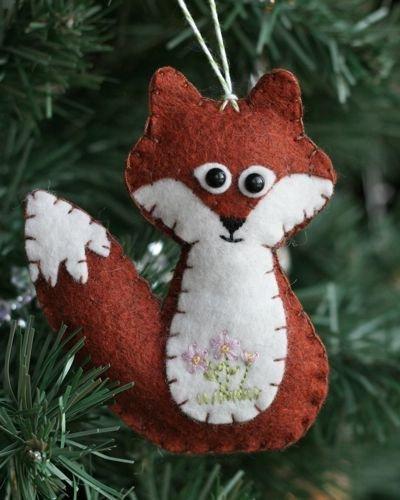 Fox Ornament - 38 Super Cute Felt Animals You Can Make ... …