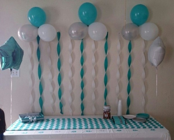 Balloons and Streamers - 27 Super Cute Baby Shower Decorations to…