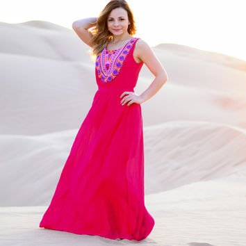 MAXI DRESS in PINK