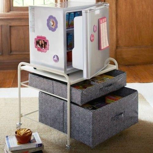 Put Your Mini Fridge Atop a Fridge Cart