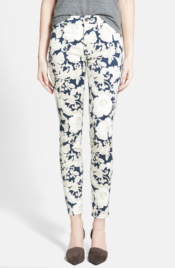 7 for All Mankind Floral Skinny Ankle Jeans - Here Are the…