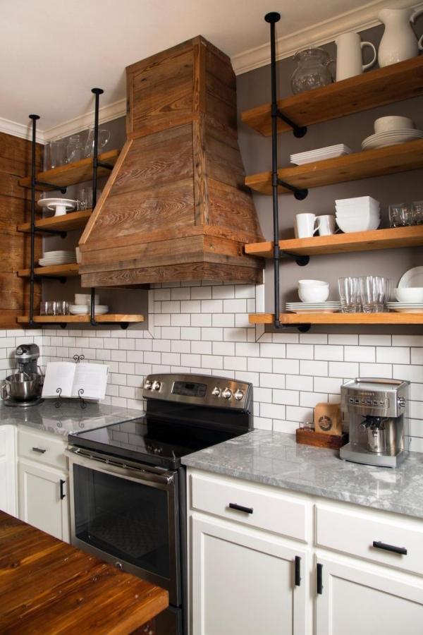 Wood and Subway Tiles