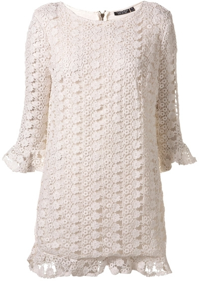 Topshop All over Crochet Shift Dress