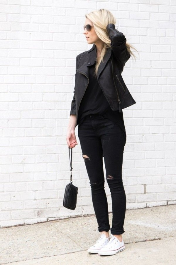 all black converse outfit - photo #7