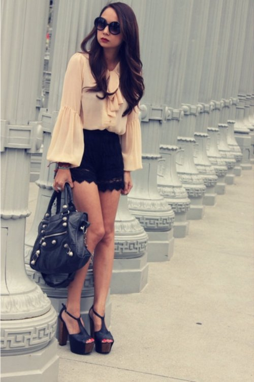 Wear Shirts with Ruffled Necklines