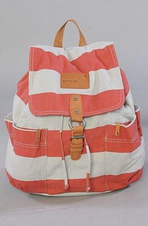 Get Go Backpack in Red Stripe Nixon