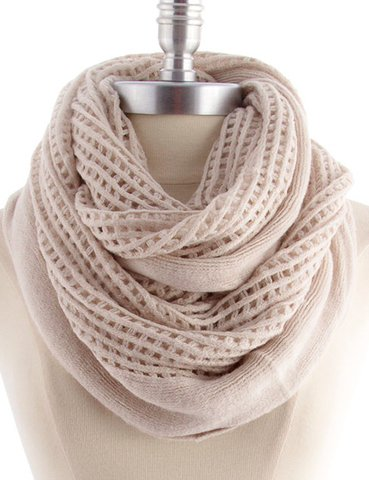 Boho Infinity Scarf Oatmeal 45 Infinity Scarves For All
