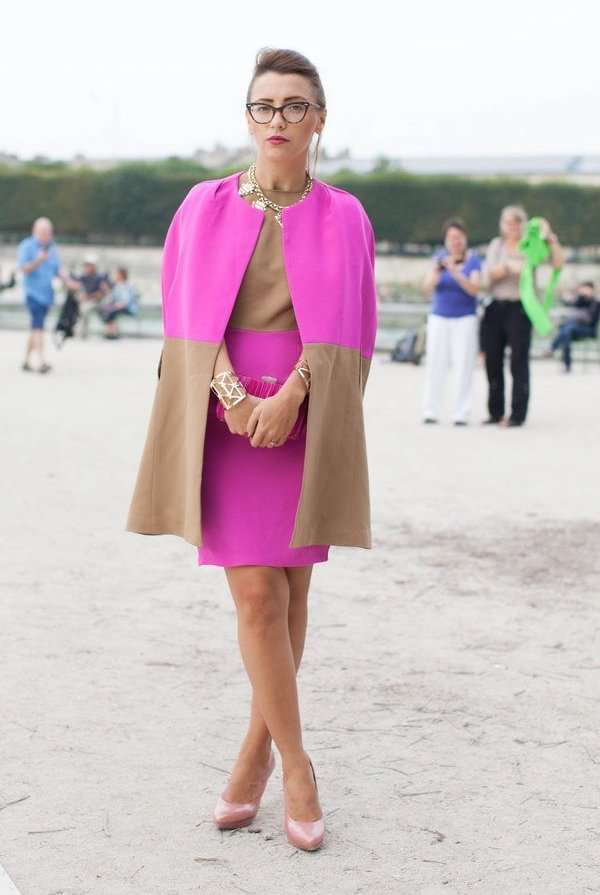 2. Matching Dress   Coat - 7 Street Style Ways to Wear the Colorblock…